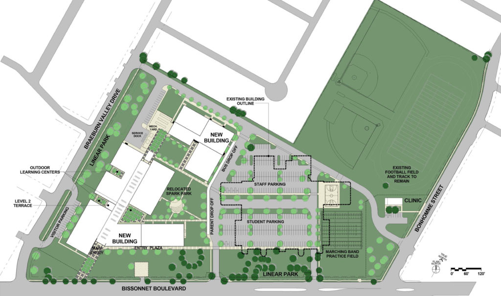 HISD Sharpstown High School Site Plan